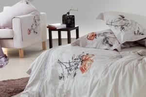 ЛЮБИМЫЙ ДОМ: белое постельное белье с цветами