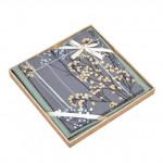 Комплект простыни 180х245 см с двумя наволочками 50х70 см из печатного сатина хлопок Asabella 1507-3PS