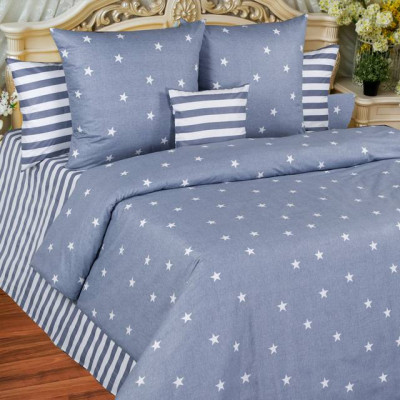 Постельное белье Balimena бязь Star (размер Евро, нав.70х70 см)