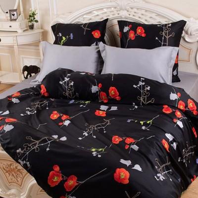 Постельное белье Balimena Магия шелка Япония блэк (размер 2-спальный)