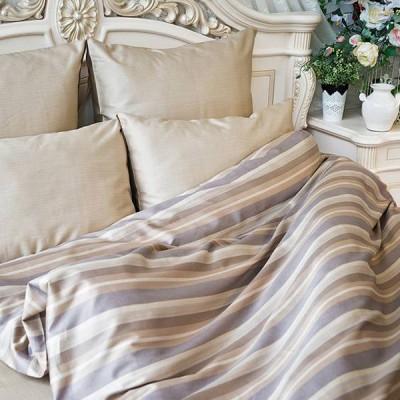 Постельное белье Balimena мако-сатин CL-8869 Beige (размер 2-спальный, нав.70х70 см)