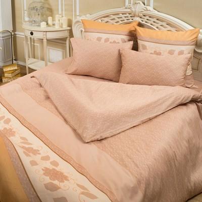 Постельное белье Balimena мако-сатин CL-8241 Beige (размер 1,5-спальный, нав.70х70 см)