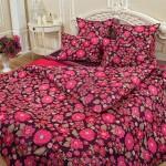 Постельное белье Balimena мако-сатин CL-8717 Bordo (размер 1,5-спальный, наволочки 50х70 см)