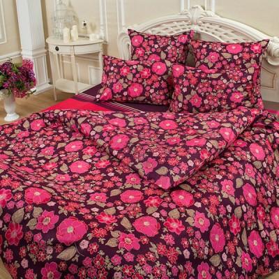 Постельное белье Balimena мако-сатин CL-8717 Bordo (размер 2-спальный, нав.50х70 см)