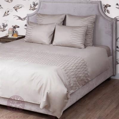 Комплект постельного белья Bovi Kioto серо-бежевый (размер евро)