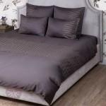 Комплект постельного белья Bovi Kioto горький шоколад (размер евро)