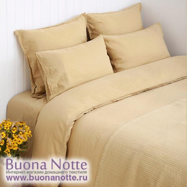 Комплект постельного белья Bovi linen горчичный (размер евро)