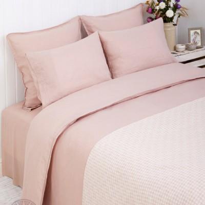 Комплект постельного белья Bovi Linen розовый (размер 1,5-спальный)