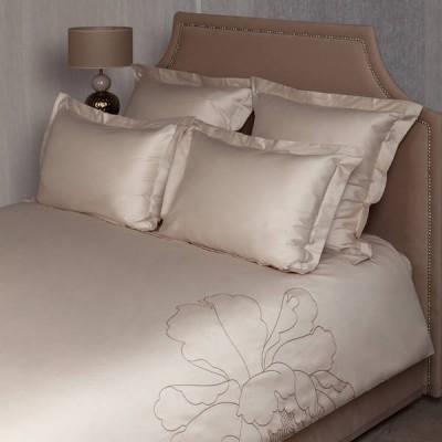 Комплект постельного белья Luxberry Peony песочный/бежевый (размер 1,5-спальный)