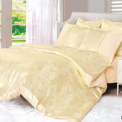 Постельное белье Cleo Satin Jacquard 066-SG (размер Семейный)