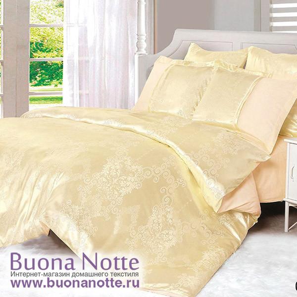 Комплект постельного белья Cleo Satin Jacquard 066-SG (размер Евро)
