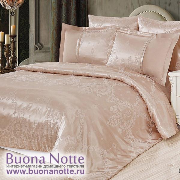 Комплект постельного белья Cleo Satin Jacquard 087-SG (размер Евро)