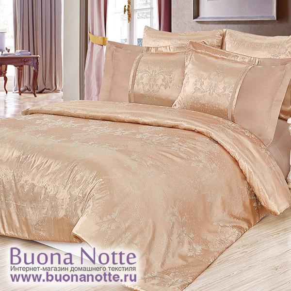 Комплект постельного белья Cleo Satin Jacquard 104-SG (размер Семейный)