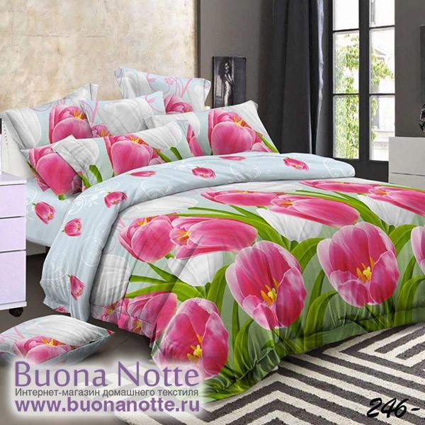 Комплект постельного белья Cleo Polysatin 246-PS (размер 1,5-спальный)