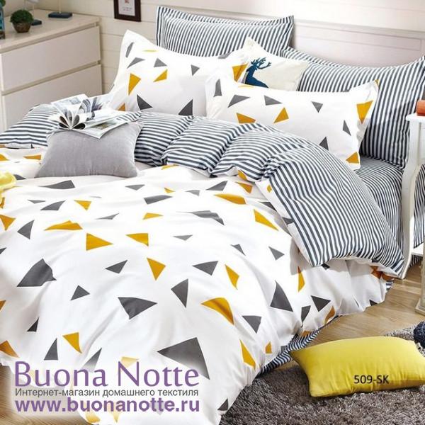 Комплект постельного белья Cleo Satin de Luxe 509-SK (размер 1,5-спальный)
