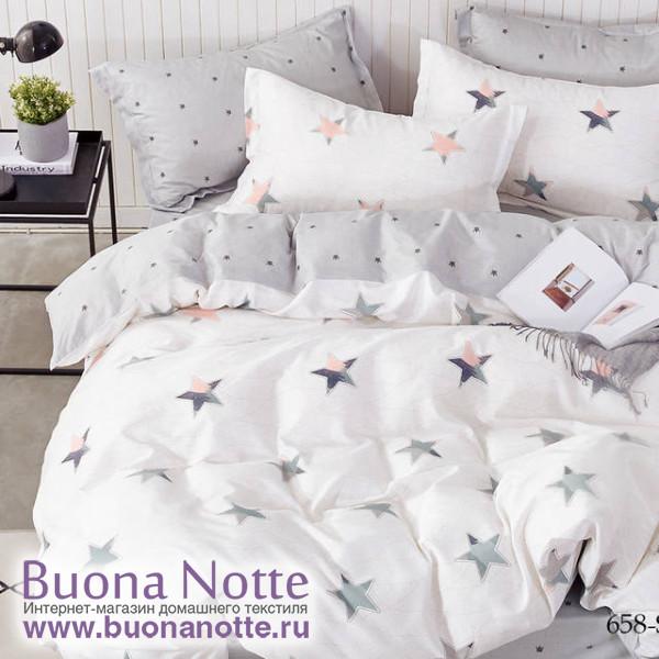 Комплект постельного белья Cleo Satin de Luxe 658-SK (размер Семейный)