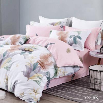 Постельное белье Cleo Satin de'Luxe 673-SK (размер 2-спальный)