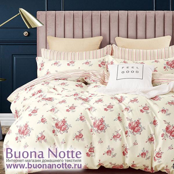 Комплект постельного белья Cleo Satin Lux 400-SL (размер Семейный)