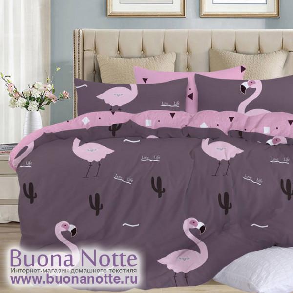 Комплект постельного белья Cleo Satin Lux 520-SL (размер 1,5-спальный)