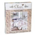 Комплект постельного белья Cleo Satin Lux 391-SL (размер Семейный)