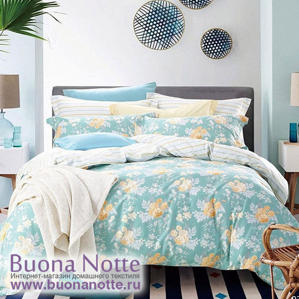 Комплект постельного белья Cleo Satin Reactive 034-SR (размер 1,5-спальный)