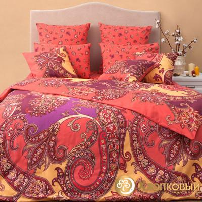 Постельное белье Хлопковый край бязь Анамур карамель (размер 1,5-спальный)