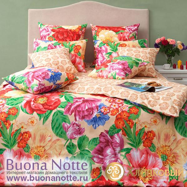 Постельное белье Хлопковый край бязь Флоренция бисквит (размер 1,5-спальный)