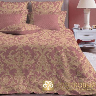 Постельное белье Хлопковый край бязь Неаполь марсала (размер 2-спальный)