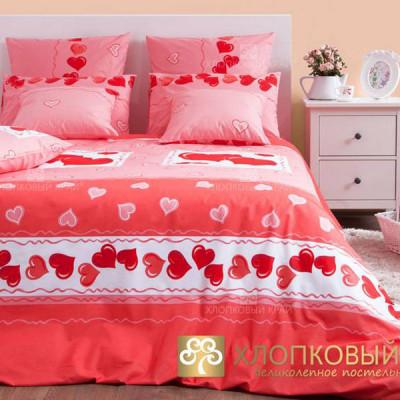 Постельное белье Хлопковый край бязь Валентинка (размер 2-спальный)