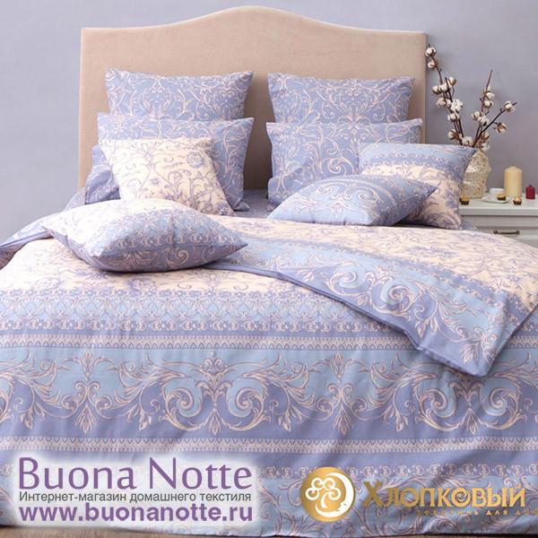 Постельное белье Хлопковый край бязь Венеция грей (размер 1,5-спальный)