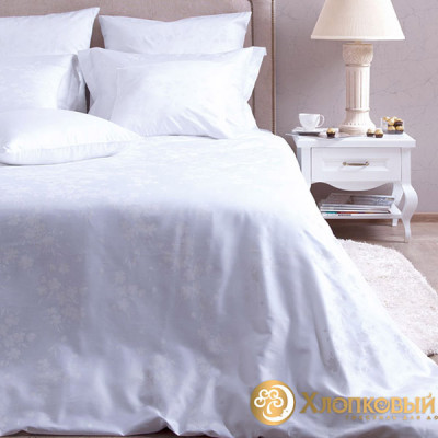 Постельное белье Хлопковый край сатин Белла (размер Евро)