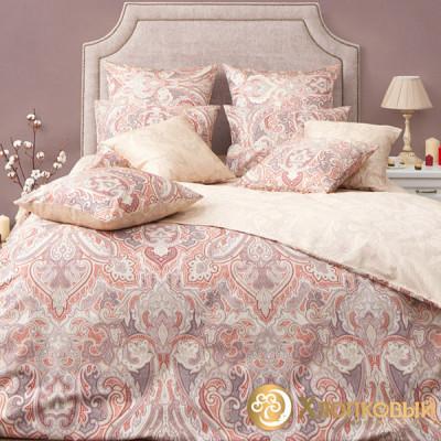 Постельное белье Хлопковый край сатин Болонья мускат (размер 1,5-спальный)