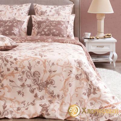 Постельное белье Хлопковый край сатин Бристоль какао (размер 2-спальный)
