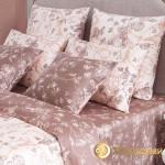Постельное белье Хлопковый край сатин Бристоль какао (размер 1,5-спальный)