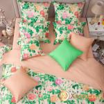 Постельное белье Хлопковый край сатин Констанция бежевый (размер Евро)