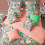 Постельное белье Хлопковый край сатин Констанция (размер Семейный)