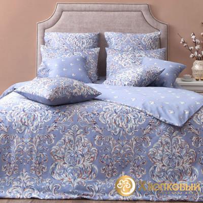 Постельное белье Хлопковый край сатин Дамаск платина (размер 1,5-спальный)