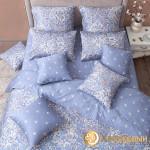 Постельное белье Хлопковый край сатин Дамаск платина (размер Семейный)