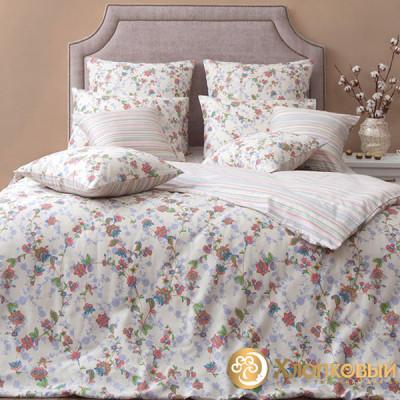 Постельное белье Хлопковый край сатин Элина (размер 1,5-спальный)