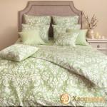Постельное белье Хлопковый край сатин Феличе фисташка (размер 1,5-спальный)