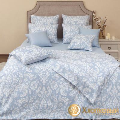 Постельное белье Хлопковый край сатин Феличе скай (размер 1,5-спальный)