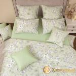 Постельное белье Хлопковый край сатин Грация фисташка (размер 2-спальный)