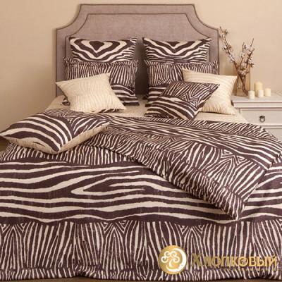 Постельное белье Хлопковый край сатин Кения (размер 2-спальный)