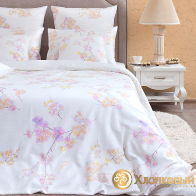 Постельное белье Хлопковый край сатин Киото (размер 1,5-спальный)