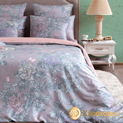 Постельное белье Хлопковый край сатин Китайский сад (размер 1,5-спальный)