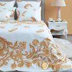 Постельное белье Хлопковый край сатин Лацио жемчуг (размер Евро)