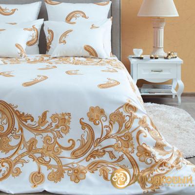 Постельное белье Хлопковый край сатин Лацио жемчуг (размер 1,5-спальный)