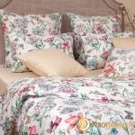 Постельное белье Хлопковый край сатин Летиция беж (размер 1,5-спальный)