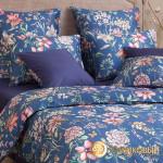 Постельное белье Хлопковый край сатин Летиция сапфир (размер 2-спальный)