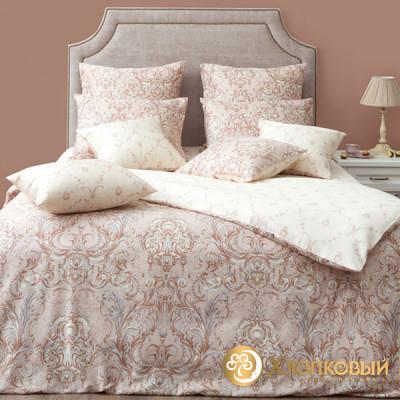 Постельное белье Хлопковый край сатин Марсель айвори  (размер 1,5-спальный)